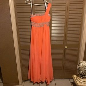 Beautiful Coral Long Dress